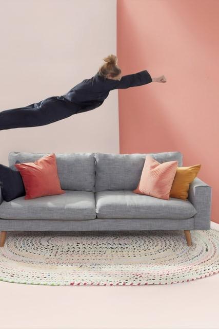 image for Grey Fabric sofa